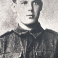 Private Alfred Henry Smith at the time of enlistment, September 1914.
