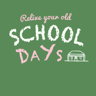 School Days -Museum Exhibition Graphic